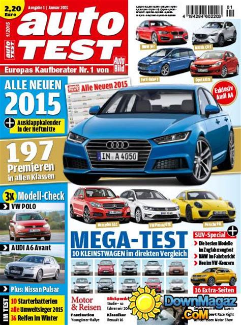 Auto Bild Magazin by Auto Bild Autotest 01 2015 187 Pdf Magazines