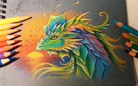 Prismatic Dragon By Alviaalcedo On Deviantart Prismatic Watercolor Tattoos