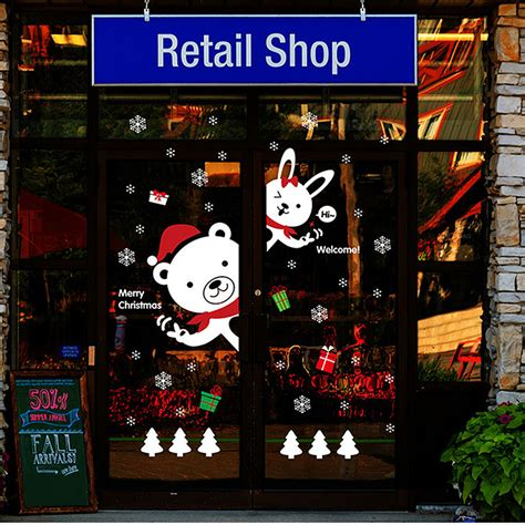 Laden Fenster Aufkleber weihnachtsdeko fenster deko weihnachten christmas