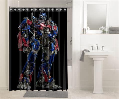 transformer bathroom decor transformers optimus prime autobots 1116 shower curtain