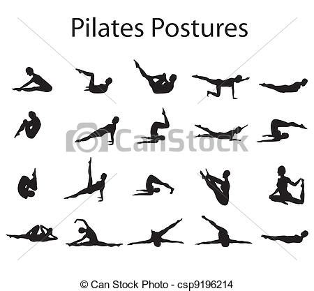 2035934524 yoga attitude postures et dessin de pilates yoga positions illustration