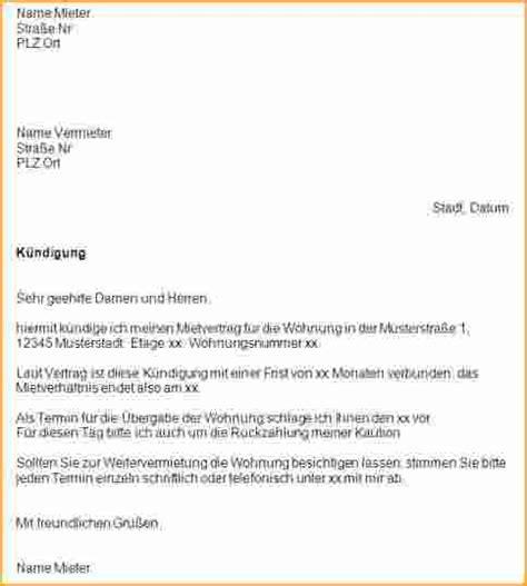 6 arbeitsvertrag k 252 ndigen muster bewerbungsschreiben