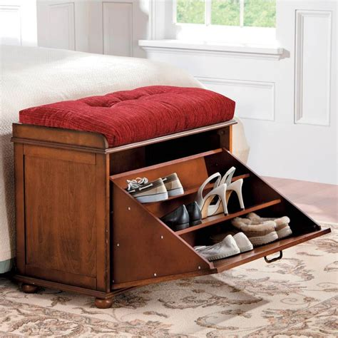 storage bench with shoe rack shoe storage bench