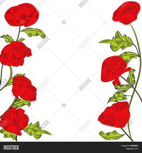 cenefas vectorizadas vector y foto cenefa con flores rojas bigstock