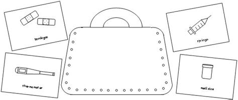 doctors bag template learning printables for