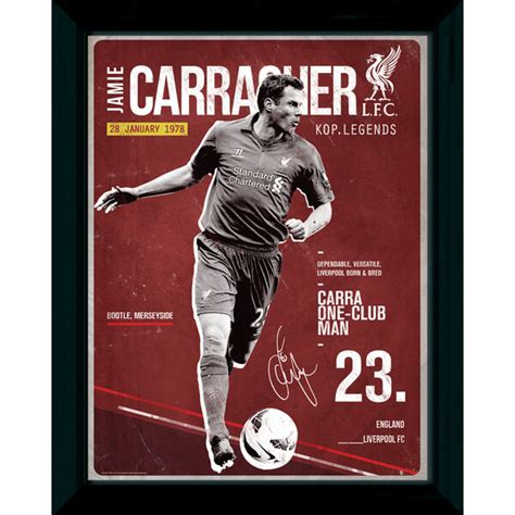 Liverpool The 12th Poster Kayu 30x22 liverpool carragher retro 16 quot quot x 12 quot quot framed photographic merchandise zavvi