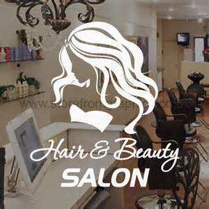 hair and salon window sticker ideal for hairdressers