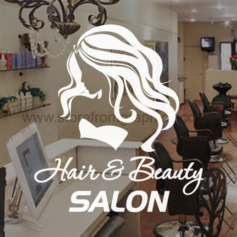 Window Decals For Nail Salon by Hair Salon Sticker Ideal For Hairdresser Shop Windows