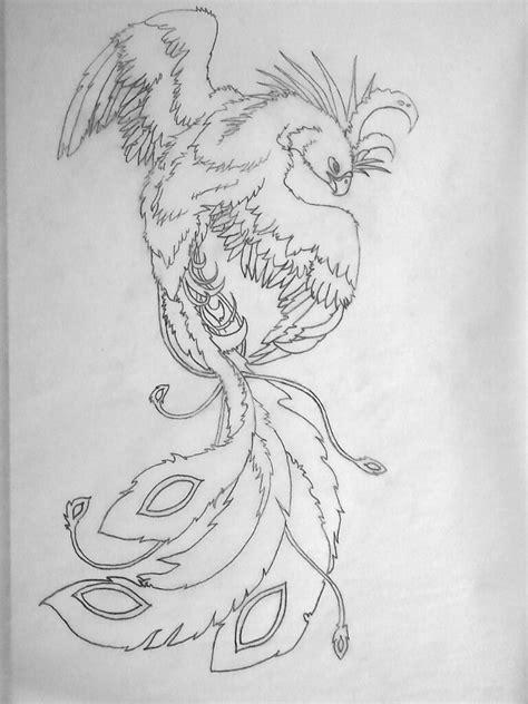 tattoo phoenix sketch phoenix tattoo sketch female by crazy4coral on