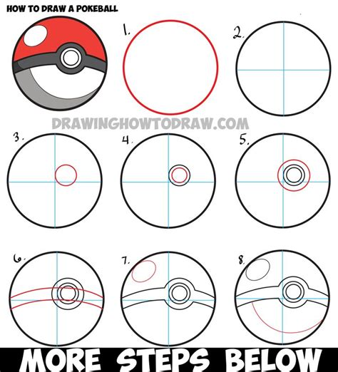 construct 2 pokemon tutorial how to draw a pokeball from pokemon easy step by step