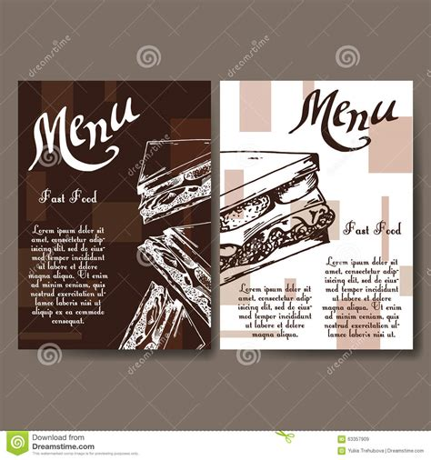 note card cafe template cafe menu with design fast food restaurant