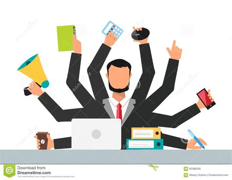position au bureau office stress work vector illustration stock vector
