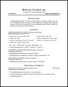 A Resume For A Highschool Student by Resume Builder College Student Sample College Student