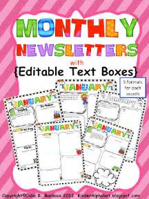 monthly newsletter template for teachers newsletter templates with monthly themes for