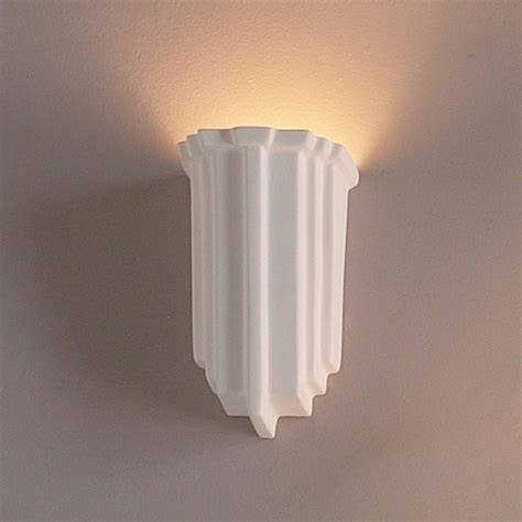 Modern Sconces Lighting by 5 Quot Carved Geometric Sconce Contemporary Ceramic Interior