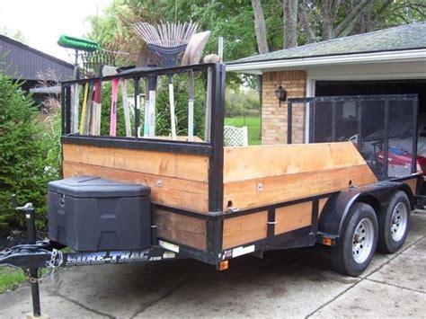 My New V Ride Custom Trailer Rack Plow Dump Page 3 Landscape Trailer Racks