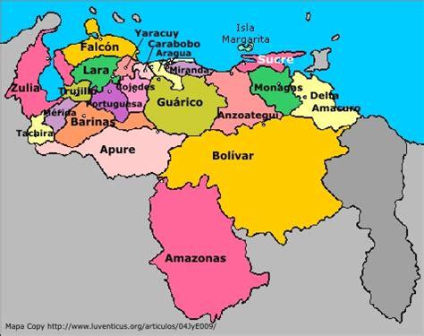 imagenes de venezuela en el mapa mapas de venezuela mapa de venezuela y sus estados
