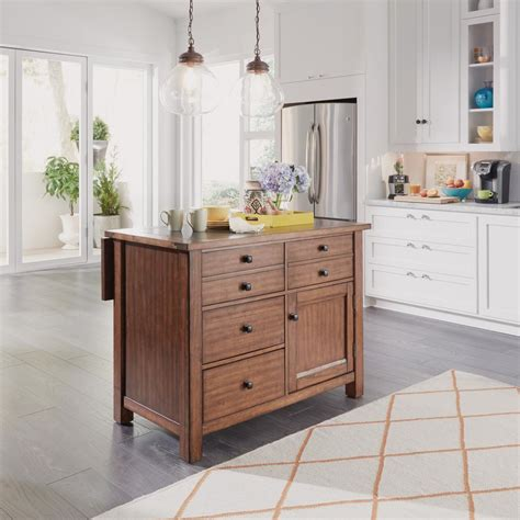 maple kitchen island home styles country lodge pine kitchen island with quartz
