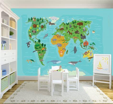 mural world map kids walldesign56 wall decals murals