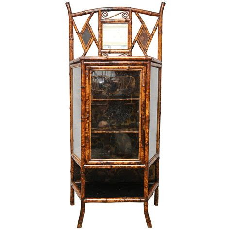 english antique bamboo cabinet with laquer top on fine 19th century english lacquer bamboo cabinet for sale