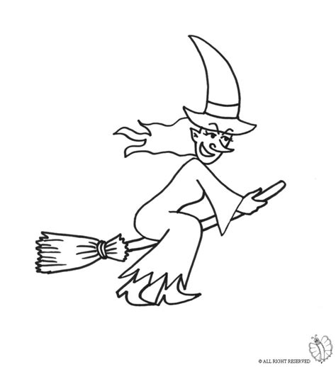 coloring pages witch on a broom print witch on broom for coloring