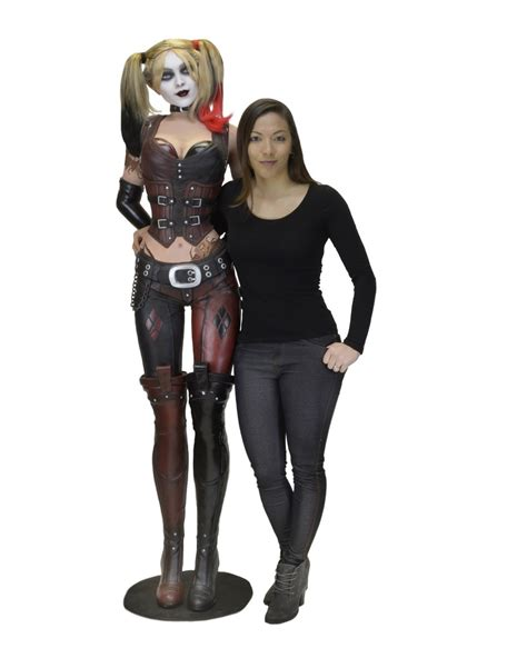 Second Hand Home Decor Online Batman Arkham City Life Size Harley Quinn Foam Replica