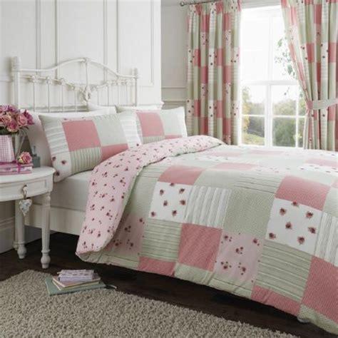 Patchwork Duvet Sets - pink green reversible patchwork duvet cover set tonys