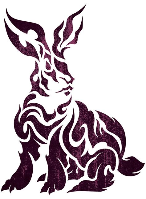 rabbit tribal tattoo designs tribal rabbit by takihisa on deviantart