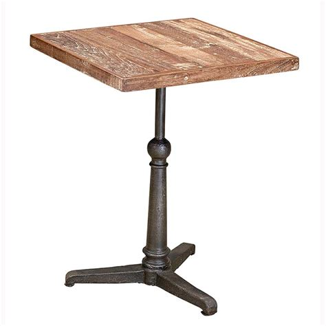 patina teak three leg bistro table andy thornton