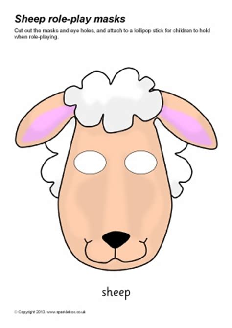 new year sheep mask template printable farm animal masks for sparklebox