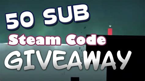 Steam Free Giveaway - steam code giveaway 50 subscribers giveaway free steam game thomas was alone