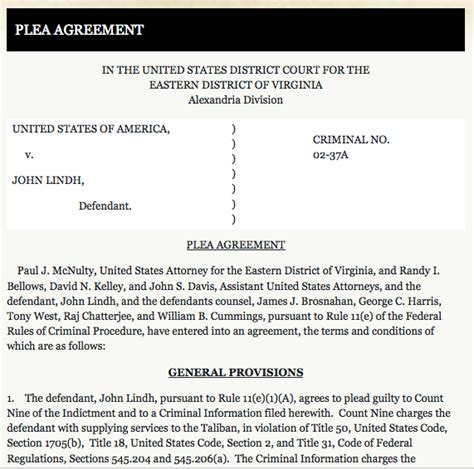 Alexandria Federal Court Search What Does A Plea Agreement Look Like The Plea Agreement Project
