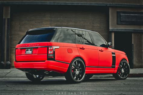 matte red range rover the battle of the matte red range rovers ultimate auto