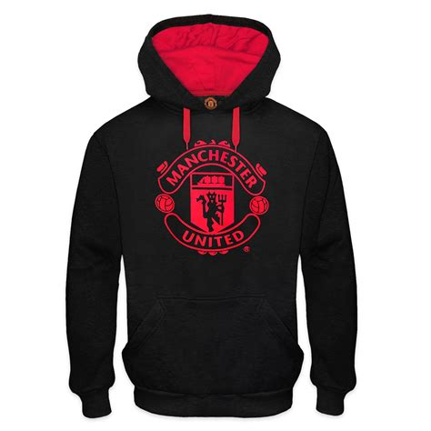 Vest Hoodie Manchester United Fc 3 manchester united fc official football gift mens graphic fleece hoody ebay