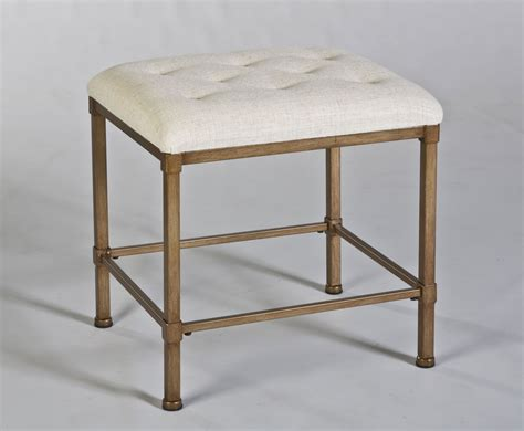 hillsdale katherine backless vanity stool golden bronze
