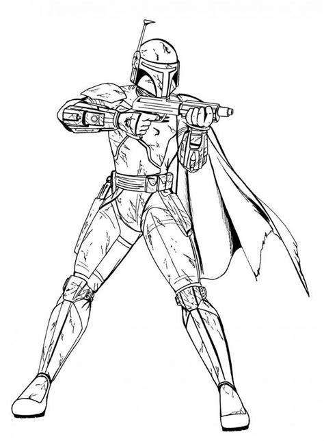 Free Starwars Clones Coloring Pages Wars Coloring Pages Boba Fett