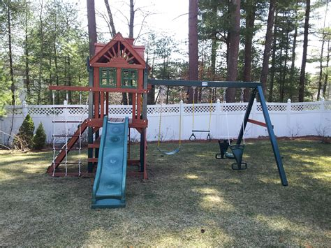 swing sets ma e street assembly gorilla playsets built