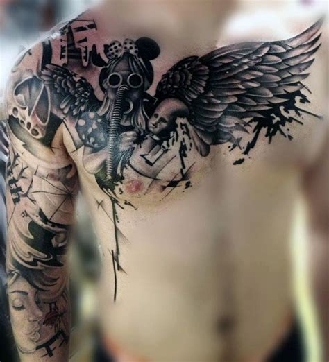 tattoo angel abstract top 80 best abstract tattoos for men artistic designs