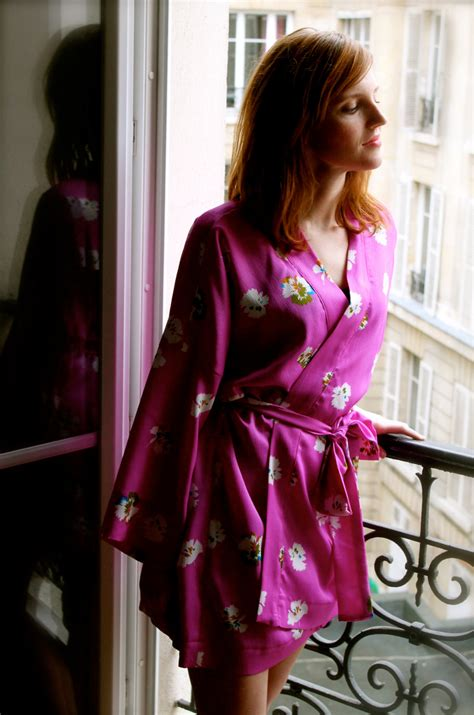 sewing pattern kimono dressing gown kimono robe pattern french seams finishing included pdf
