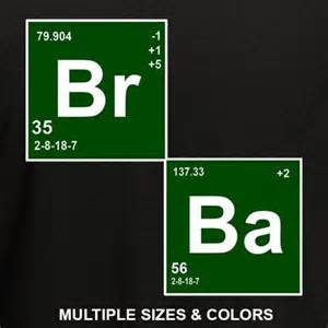colors in breaking bad br ba breaking bad elements heisenberg white cool t shirt