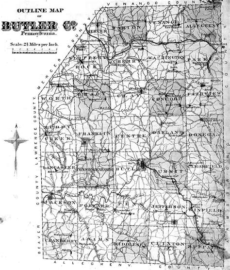 Butler County Divorce Records Pa Butler County Pennsylvania Maps 1874