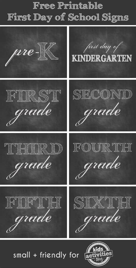 free printable first day of signs