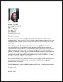Cosmetology Cover Letter Sles by Cosmetologist Cover Letter Resume Resumes Design