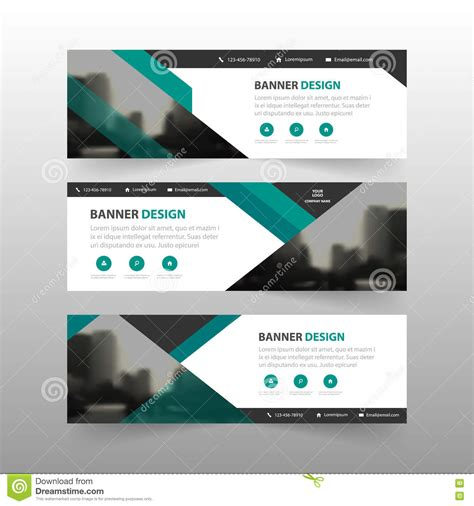 design banner email green abstract triangle corporate business banner template