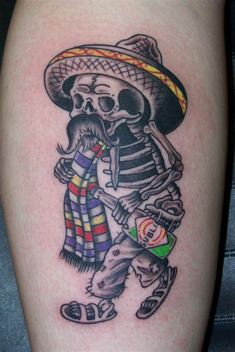 good fortune tattoo day of the dead this was done by amanda