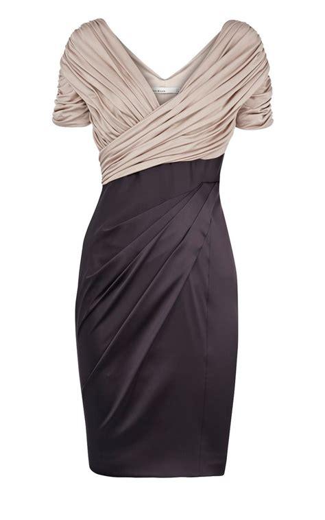 Dresses Over 55 Large | karen millen jersey and satin dress black multi karen