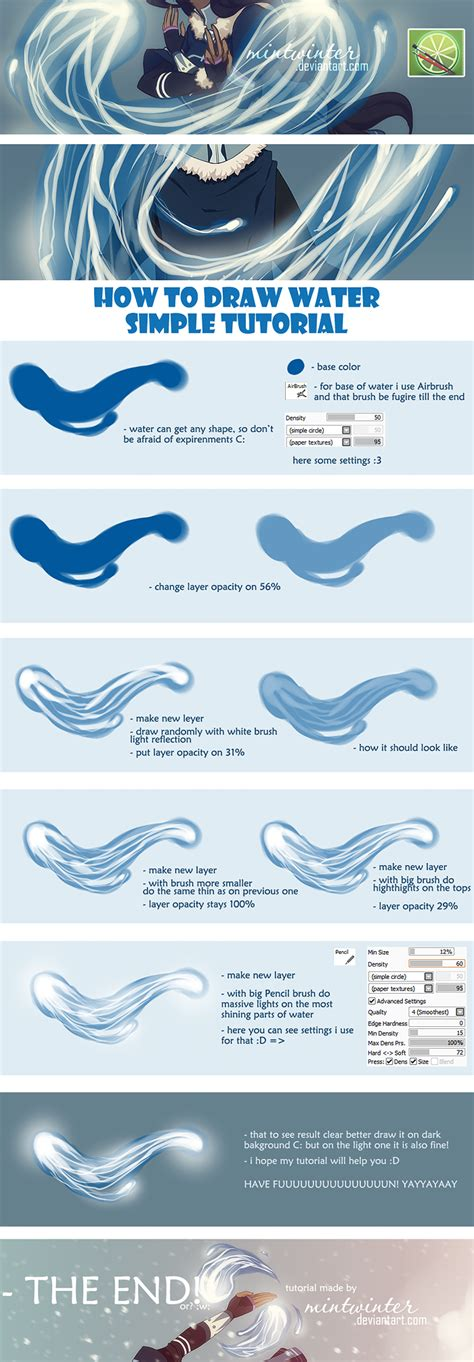 paint tool sai water tool tutorial water tutorial by mintwinter on deviantart