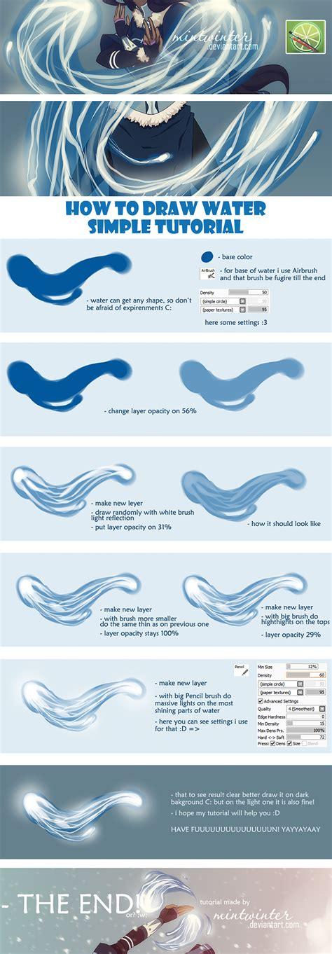 paint tool sai tutorial water water tutorial by mintwinter on deviantart