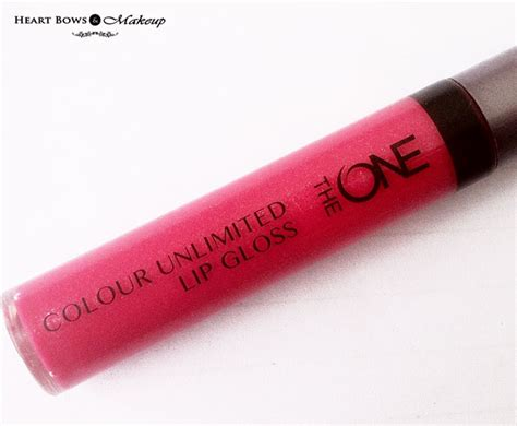Lipgloss Oriflame oriflame the one colour unlimited lip gloss fuchsia review swatches bows makeup