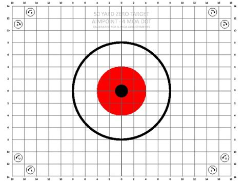 printable zero targets 50 yard zero target pictures to pin on pinterest pinsdaddy